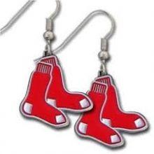 Boston Red Sox Logo Dangle Earrings