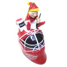 Detroit Red Wings  Painting Elf Ornament