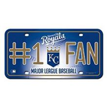 Kansas City Royals #1 Fan Metal Auto Tag