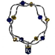 Kansas City Royals Crystal Bead Charm Bracelet