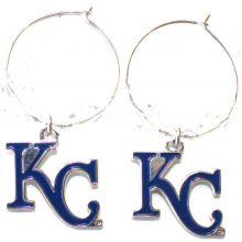 Kansas City Royals Beaded Hoop Dangle Earrings