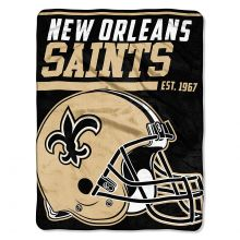 """New Orleans Saints 40 Yard Dash 46"""" x 60"""" Super Plush Throw"""