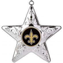 "New Orleans Saints 4"" Silver Star Ornament"