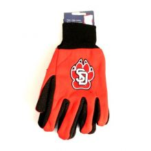South Dakota Coyotes Red Black Knit Jersey Utility Gripping Adult Gloves