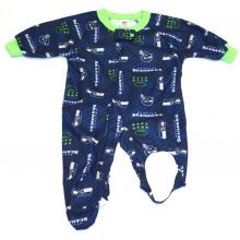 Seattle Seahawks 2018 Infant Footed Blanket Sleeper 6 Months