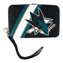 "San Jose Sharks Distressed Wallet Wristlet Case (3.5"" X .5"" X 6"")"