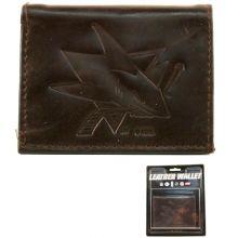 San Jose Sharks Brown Leather Wallet