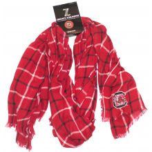NCAA Licensed South Carolina Gamecocks Plaid Oblong Scarf