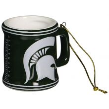 Michigan State Spartans Ceramic Mini Mug Ornament