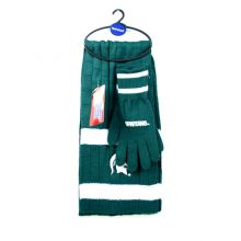 Michigan State Spartans Cold Weather Knit Scarf and Glove Set