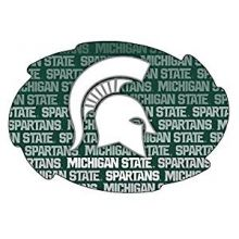 """Michigan State Spartans 5"""" x 6"""" Repeating Design Swirl Magnet"""