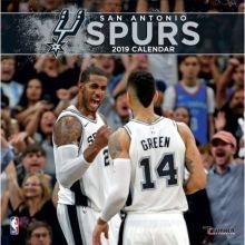 San Antonio Spurs 12 x 12 Wall Calendar 2019