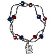St. Louis Cardinals  Crystal Bead Charm Bracelet