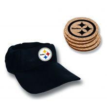 Pittsburgh Steelers  Team Colored Cap Coaster Set