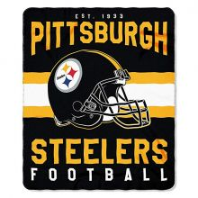 "Pitsburgh Steelers 50"" x 60"" Singular Fleece Throw Blanket"