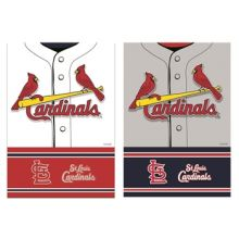 "St. Louis Cardinals 2-Sided Suede Foil House Flag 29"" x 43"""