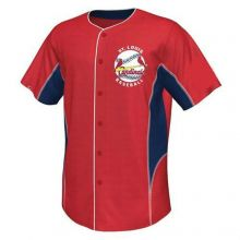 St. Louis Cardinals Youth 2-Tone Button Up Jersey Shirt (Lg 14-16)