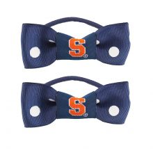Syracuse Orange Bow Pigtail Holders
