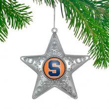 """Syracuse Orange 4"""" Silver Star Ornament"""