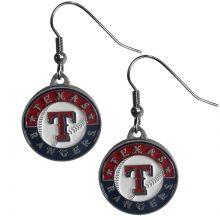 Texas Rangers Round Dangle Earrings