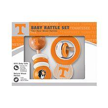 Tennessee Volunteers Wooden Baby Rattle Set