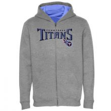 Tennessee Titans Gray Youth Full Zip Hoodie Jacket (Large 14/16)