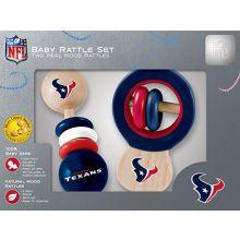 Houston Texans Wooden Baby Rattle Set