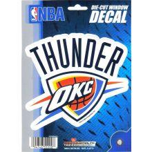 "OKC Thunder 5.75"" X 7.75"" Die-Cut Window Decal"