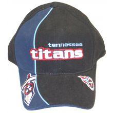 Tennessee Titans Dual Logo Black Embroidered Adjustable Headwear