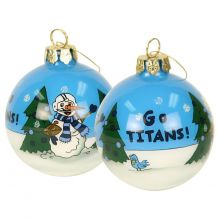Tennessee Titans Hand Painted Ball Ornament