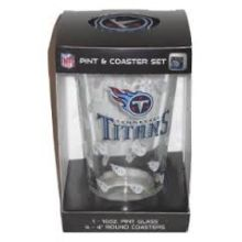 Tennessee Titans Pint and Coaster Set
