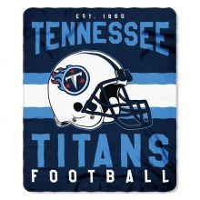 "Tennessee Titans 50"" x 60"" Singular Fleece Throw Blanket"