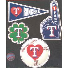 Texas Rangers 4 Piece Magnet Set