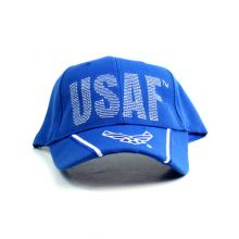 United States Air Force USAF Script With Wing Logo Bill Hat