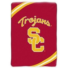 "NCAA Officially Licensed Plush 64"" x 86"" Fleece Throw Blanket (USC Trojans)"
