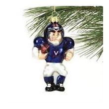 Virginia Cavaliers Angry Man Football Player Ornament