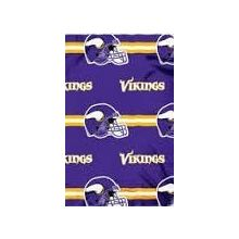 "Minnesota Vikings  50"" x 60"" 3 Bar Fleece Throw Blanket"
