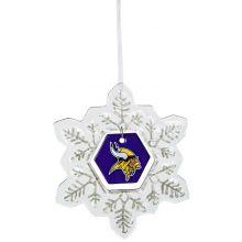 Minnesota Vikings Glass Snowflake Ornament