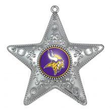 "Minnesota Vikings 4"" Silver Star Ornament"