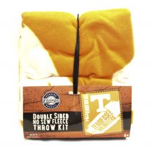 Tennessee Volunteers Double Sided No Sew Fleece Blanket Kit