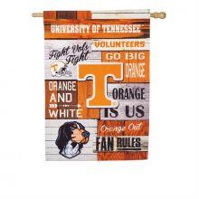 Tennessee Volunteers Vertical Linen Fan Rules Garden Flag