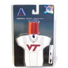 Virginia Tech Hokies Personalizable Jersey Ornament with Team Color Markers