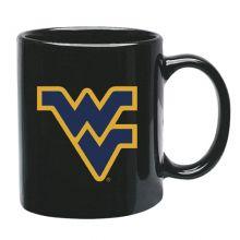 West Virginia Mountaineers 15 oz Black Ceramic Coffee Cup