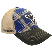 West Virginia Mountaineers Plaid Adjustable Hat