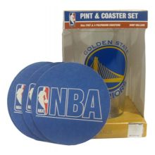 Golden State Warriors Pint and Coaster Set
