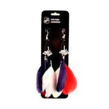 Washington Capitals Fan Feather Earrings