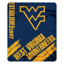West Virginia Mountaineers Established  Fleece Throw Blanket