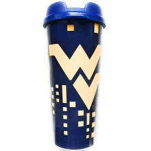 West Virginia Mountaineers 16-ounce Insulated Travel Mug