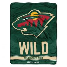 "Minnesota Wild 46"" X 60"" Super Plush Fleece Throw"