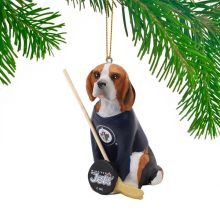 Winnipeg Jets Beagle Team Dog Ornament